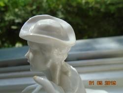 Életvidám,dinamikus barokk szobor pár-17,5x17x10 cm