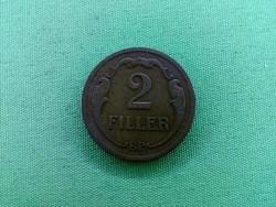 Ritkább 2 fillér 1931/id 2456/