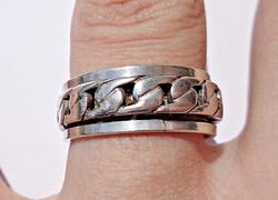 8 mm. széles középrészt forgó ezüst gyűrű