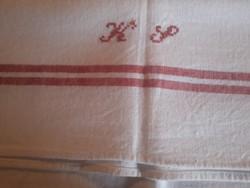 Monogrammos vászon törülköző 68x60cm