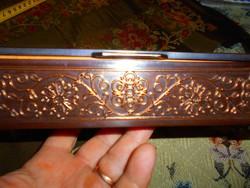 Képcsarnoknál vásárolt retro fém asztali doboz fa  betéttel