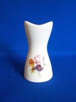 Nagyon szép Aquincumi porcelán váza virág csokorral