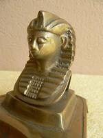 Réz egyiptomi figurális hamutartó,hamutál