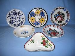 Antik Városlődi,Hollóházi és Apátfalvi tányérok együtt