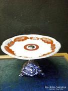 S18 Elegáns kínáló tortatál,porcelán kínáló talppal