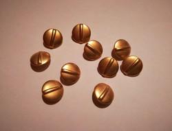 Nagyon szép, női ruházati  fém gombok,aranyszinű  10 db egyben !