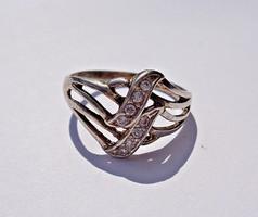 8 köves áttört mintás ezüst gyűrű