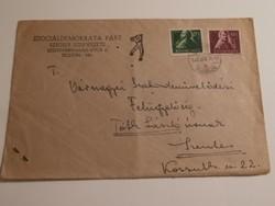 Szociáldemokrata Párt futott borítékja