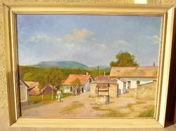 Bánovszky Miklós: Pincesor c. festménye garanciával! (60 cm x 80 cm; olaj, vászon)
