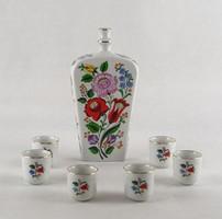 0W624 Kalocsai porcelán stampedlis készlet