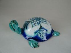0W477 Morvay Zsuzsa művészi kerámia teknős