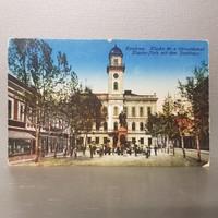 Komárom Klapka tér a városházával képeslap (680)