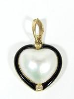 Arany szív medál(Szf-Au69812)