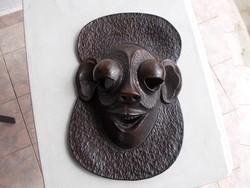 Régi Afrikai mask,46x24 cm,elefant bőr