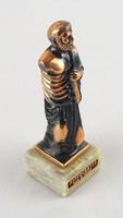 0W629 Bronzírozott Hippokratész szobor 13 cm
