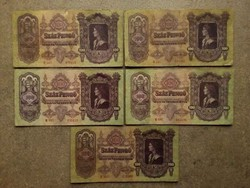 5 db 100 pengő 1930/id 7721/