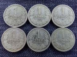 6 db ezüst 1 Pengő 1926-1927/id 7246/