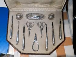 Osztrák 800-as ezüst manikür készlet(teljes).