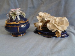 2 db antik német csodálatos bonbóníer virág csokóral   csak egyben