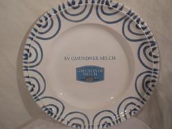 Porcelán - Gmundner - porcelán - falitányér - nagy - 29 x 4 cm - hibátlan