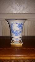 Herendi kék Indiai kosár mintás nagy körmös   váza