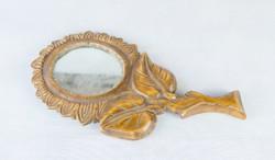 Régi erdélyi faragott tükör - napraforgó formájú