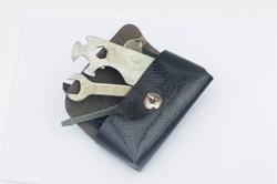 Retro bicikli szerelő készlet - biciklivázra erősíthető táskában, alig használt állapotú