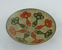 0S291 Csicsónénak 3 lánya réz tányér 14.5 cm Fémmunka