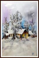 Czinóber -  Az első hó ( közvetlenül a művésztől ) ( keret nélkül )