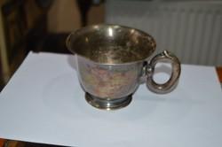 Régi alpakka pohár