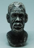 Afrikai férfi portréja - kőszobor