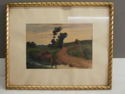 Weiner 1927 szignóval ellátott akvarell
