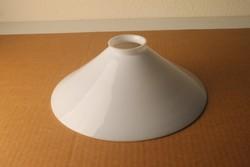 Antik tejüveg banklámpa búra