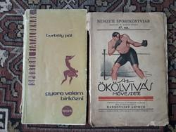 Birkózós könyvek - ökölvívás - sport