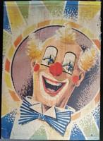 Bohóc plakát OTK 23 plakát mérete:58cmX82cm kartonlapra ragasztva 1950 es évekből