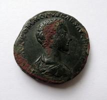 Ritka fiatalkori Commodus sestertius. - PRINC IVVENT S-C