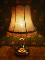 60 cm magas réz asztali lámpa....polírozva...