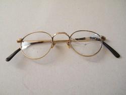 Antik, aranyozott szemüveg