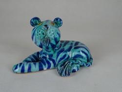 0W486 Morvay Zsuzsa művészi kerámia tigris