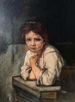 Rembrandt után: Lány az ablakban (repro)