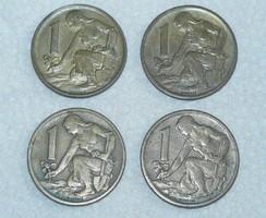 4 db. - 1 Korona - Csehszlovákia