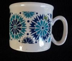 Zsolnay retró kék teás csésze