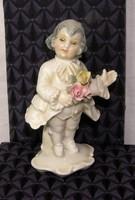 Barokk figura Ens porcelán