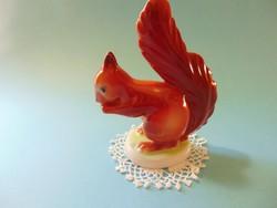 Hollóházi porcelán mókus figura
