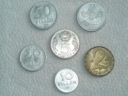 6 db - Magyar pénzérme