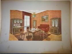 Századfordulós (nappali bútor / enteriör katalógus) 19 db. karton