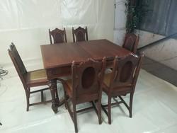 Antik étkező(asztal+6 szék)I.