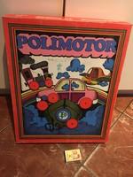 POLIMOTOR retró szerelő konstrukciós játék társasjáték TRIÁL