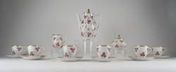 0W709 Aranyozott német porcelán kávéskészlet