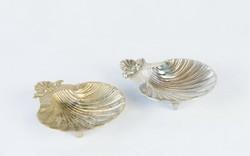 Barokk kagyló hamutálak - öntött fémötvözet réz és ezüst színben asztali díszek